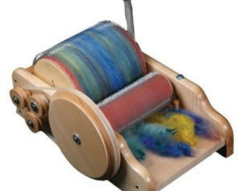 Ashford Drum Carder Full Size Carder Packer Brush Is Included Free FIBER Free Shipping In The Lower 48 Coarse