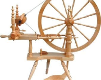 Kromski Polonaise Spinning Wheel Clear Finish With Extras
