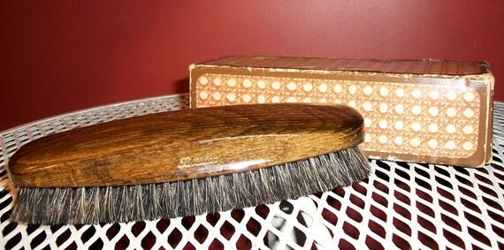 BORSTEN Vintage West Germany Wooden Clothing Shoe Brush Natural Bristles Original Box
