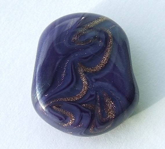 Purple Princess - sparkly lampwork focal bead