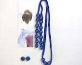 wrapped knitted necklace MIU indigo