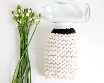 chunky knitted bottle cover EMME