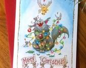 Cat & Mice Christmas Card Set
