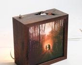 Pleasant dreams bear and ballerina light box(Made to order)