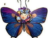 blue butterfly mobile 3D female