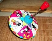 Vintage Mickey Mouse Spinning Toy Top