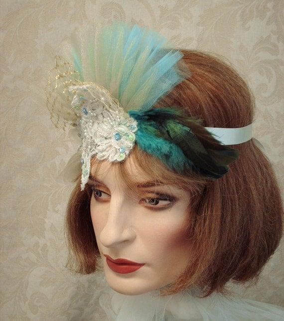 Items similar to Flapper Feather Headband, 1920s Hair ...