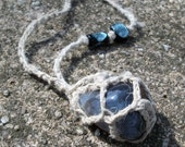 Eye Agate Gemstone Hemp Necklace