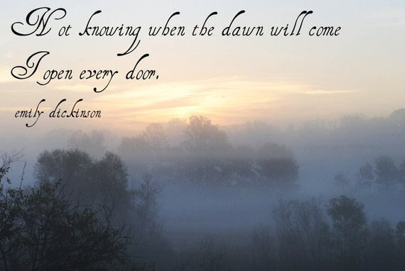 Items Similar To Dawn- Emily Dickinson Quote- Nature