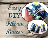 Christmas Gift Boxes, Doctor Who Inspired DIY Geekery Printable Starry Night TARDIS Pillow Box PDF Download