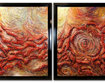 60x96 TEXTURED Abstract Painting Modern ORIGINAL Huge 5ft x 8ft Canvas Acrylic Fine Art by Federico Farias.