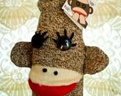 CUSTOM LISTING - Sock Monkey Wine Sleeve (8)- Basic with Ears