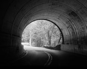 The Light at the End of the Tunnel - Black and White Home Decor Fine Art Photograph