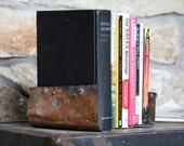Rustic Bookends, Handmade from Upcycled Vintage Copper, Eco Friendly - Pair, Set of Two (2) - Farmhouse Chic Home Decor, Industrial - Unique Housewarming Gift, Teacher