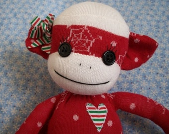 Noelle- A Christmas Sock Monkey