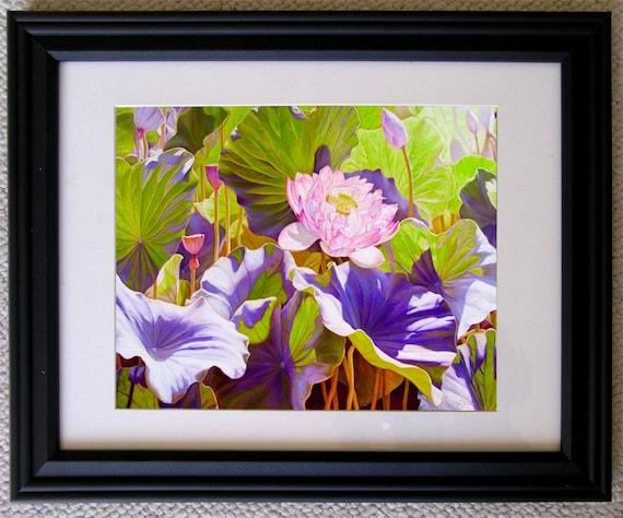 Lotus Flower Painting2,  Holiday gift, wedding gift , birthday gift