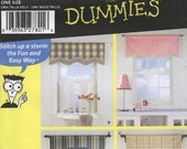 Sewing for Dummies Window Valances Simplicity 4997 0667 (Una Talls Sola) (Une Seule Taille)