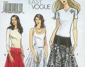 Very Easy Vogue V8197 Skirt Size AA 6-12 (Tres Facile Jupe) (Muy Facil Falda)