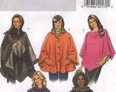 Easy Poncho Coat Jacket Butterick B4672 Size RR 18W-24W (Facile Veste) (Facil Chaqueta)