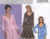 Easy Suit Jacket Top Skirt Butterick B4727 Size EE 14-20 (Facile Veste Haut Jupe) (Facil Chaqueta Arriba Falda)