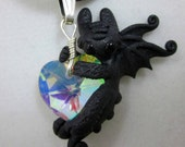 NIghtfury crystal heart necklace