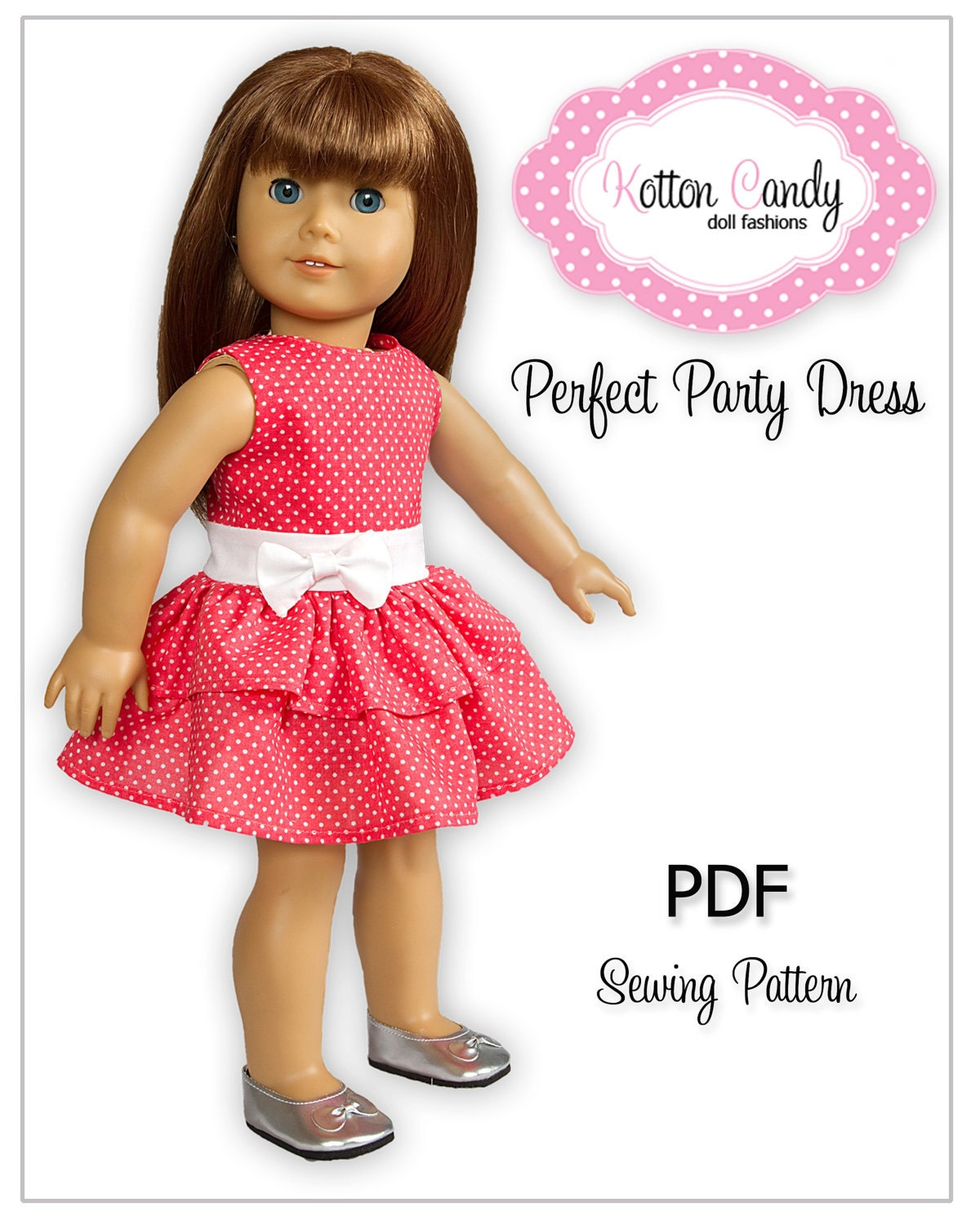 Sewing Pattern for 18 American Girl Doll by KottonCandyPatterns