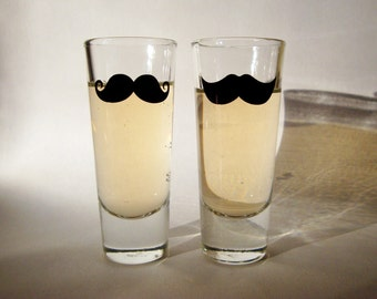 Mustache Shot Glasses (set of 6) - As Seen in COSMOPOLITAN