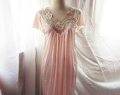 Dream Time Soft Romance Boudoir Flowy Misty Lush Candy Peach Luxurious Pale Coral Pink Mermaid Satin Long Dress y Night Gown