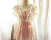 Spring Old World Charm Misty Dream French Chantilly Pink Ballerina Dreamy Victorian Romantic Crochet Embroidered Chiffon Dress y Tunic