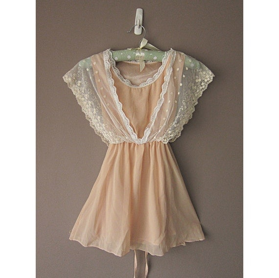 Fall Old World Charm Misty Dream French Creamy Nude Dreamy Victorian Romantic Crochet Embroidered Chiffon Dress y Tunic