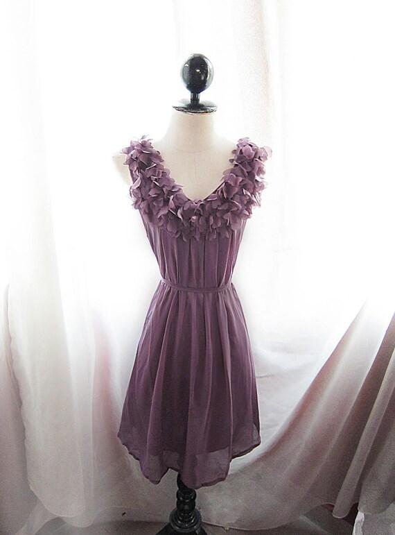 Plum Chantilly Angel Love Dreamy Havisham Mille Feuille Cutouts Flowy Marie Antoinette Alice in Wonderland Dress