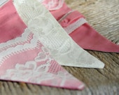 Shabby Chic / Baby Bunting / Photo Prop / Garland / Penant / Nursery Decor / with LACE / Photography