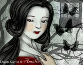 ACEO/ATC Print - Dancing Child (Geisha Series) by Amalia K