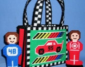 Plastic Canvas Pattern for Race Car Tote