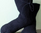 Barefoot Running Socks for winter huaraches boiled felted wool - MollysPurl