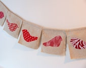Red Birds Handmade Fabric Bunting Prayer Flags Wall Flags Home Decor Wall Decor Wall Hanging
