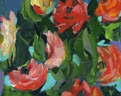 Floral print of acrylic painting