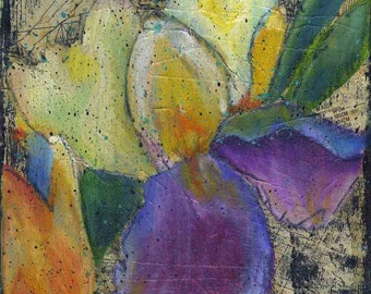 Iris's Courage print of mixed media acrylic painting
