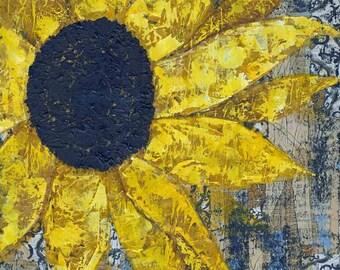 Follow the Son print of mixed media acrylic painting