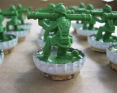 Here Comes the Cavalry - Upcycled Army Men Checkers (full set of 24 pieces)