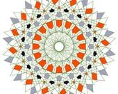 Portal - Conscious Wall Art Large Poster Print - Yoga Art Sacred Geometry