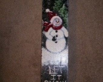 Painted Wooden Sled