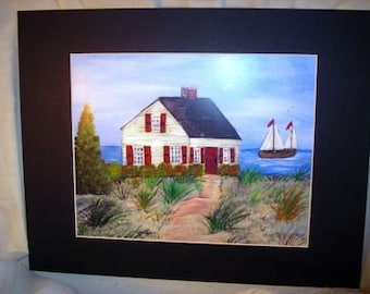 Cape Cod Beach House Print