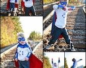 Superhero Cape Super Hero cape mask and cuffs set Personalized Custom monogram