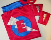 Custom SUPERHERO Cape mask and cuff set Wonder Woman Superman Batman personalized monogrammed girls boys toddlers infants kids super hero