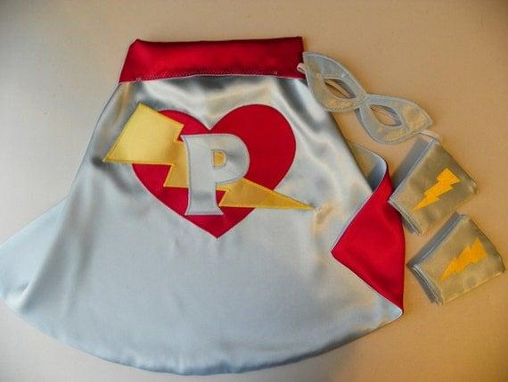 Superhero cape set Super Hero Cape Toddler Baby Cape Mask Cuff costume