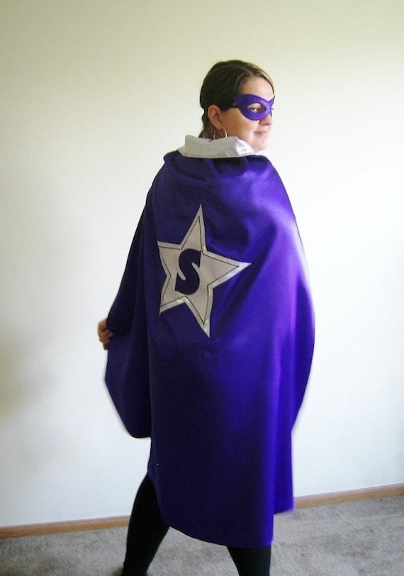 Adult Custom Superhero cape-Super Hero cape personalized, Halloween Costume- monogramed-Teacher gift Mothers Day