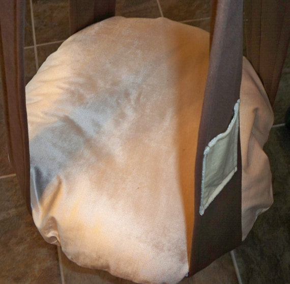 Hanging Cat Bed, Single Kitty Cloud Cream Velvet