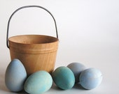 Natural Wood Toy- Robins Eggs- Easter Basket- Waldorf- Montessori- Nature Table- Pretend Kitchen Front Page Find