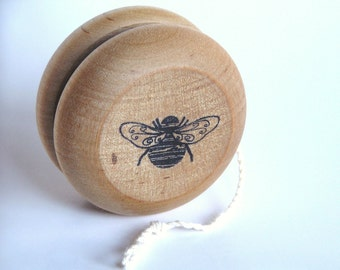 Natural Wood Toy- Bumble Bee- Yo-Yo- Easter- Birthday- Wedding